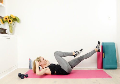 Bicycle crunches 2
