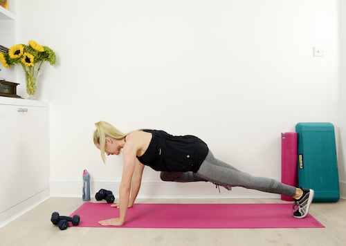 Plank Oblique crunch 4